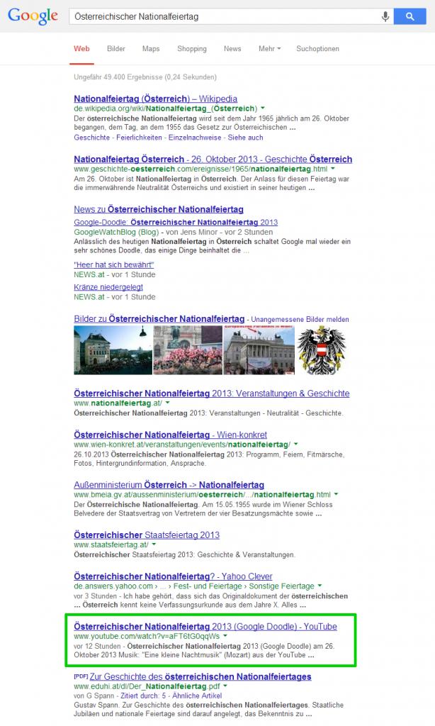 Österreichischer Nationalfeiertag Google-Suche (de)