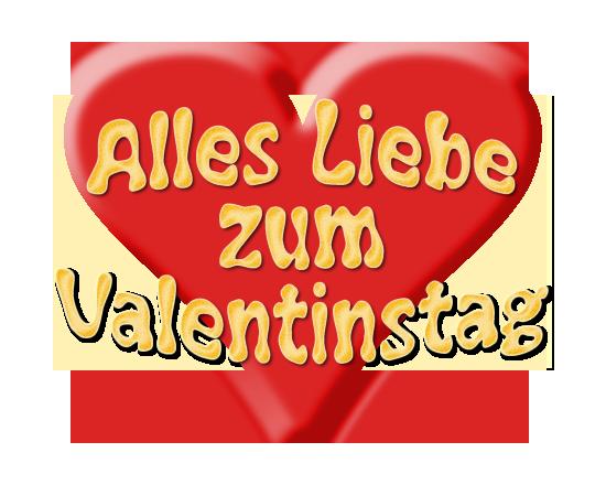 Alles Liebe zum Valentinstag mit Herz