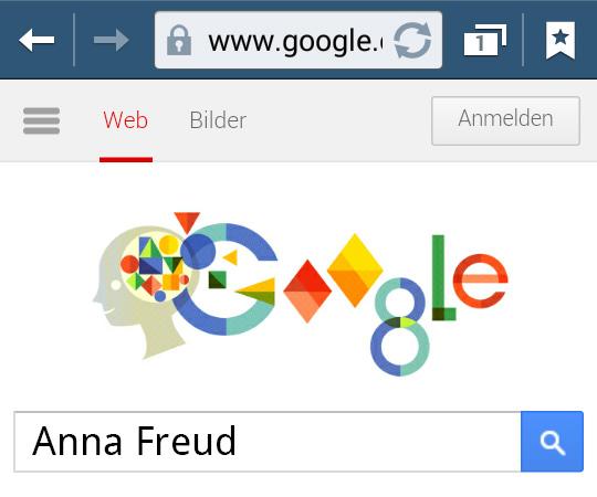 Anna Freud (Google Doodle)