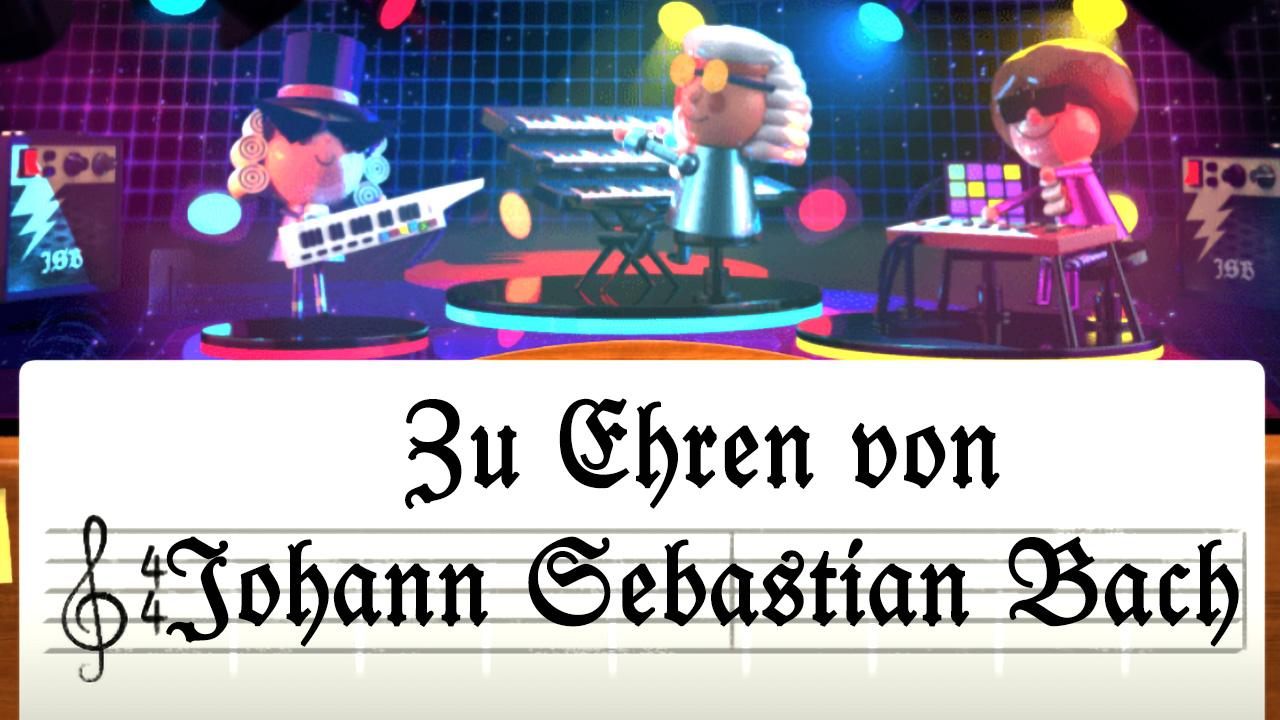 Johann Sebastian Bach (Google-Doodle)
