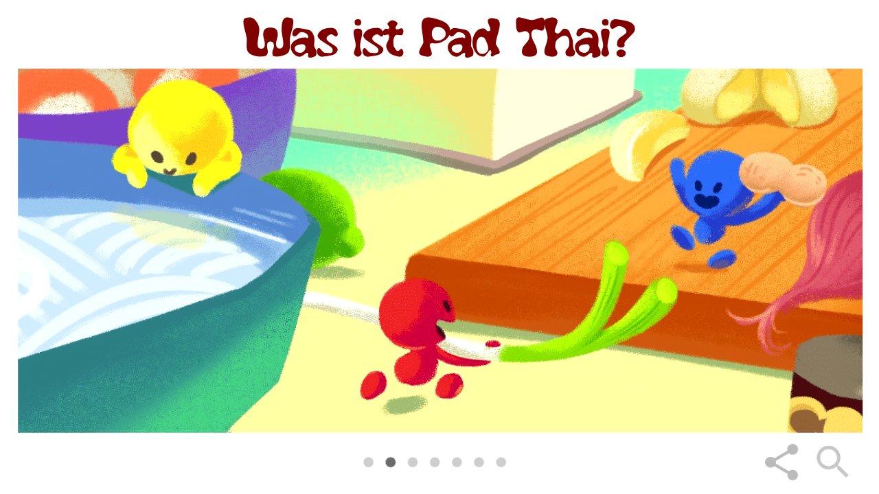 Was ist Pad Thai? (Google Doodle)