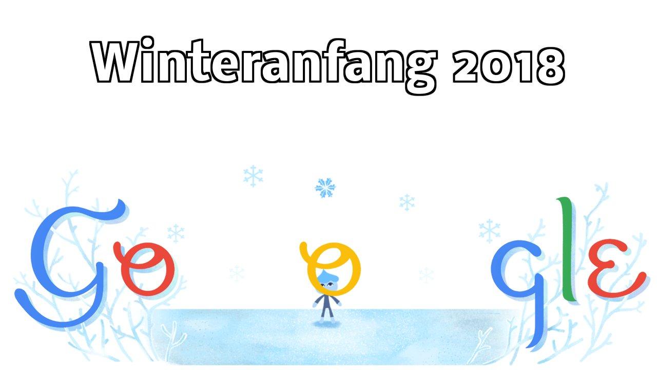 Winteranfang 2018 Google Doodle