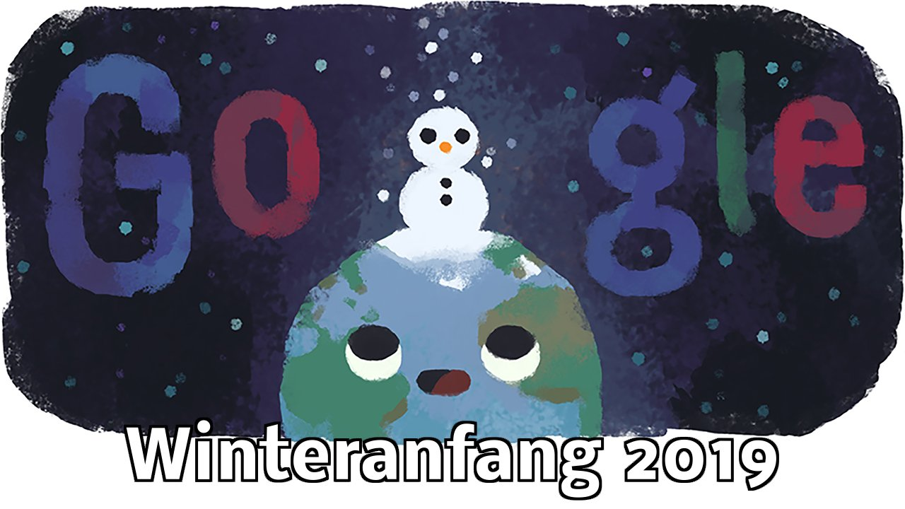 Winteranfang 2019 Google Doodle