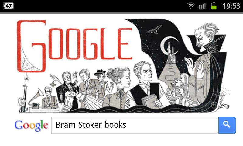 google-doodle bram stoker