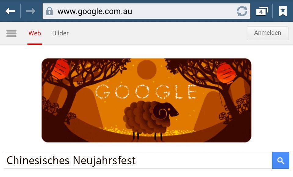 Chinesisches Neujahrsfest 2015 (Google Doodle)