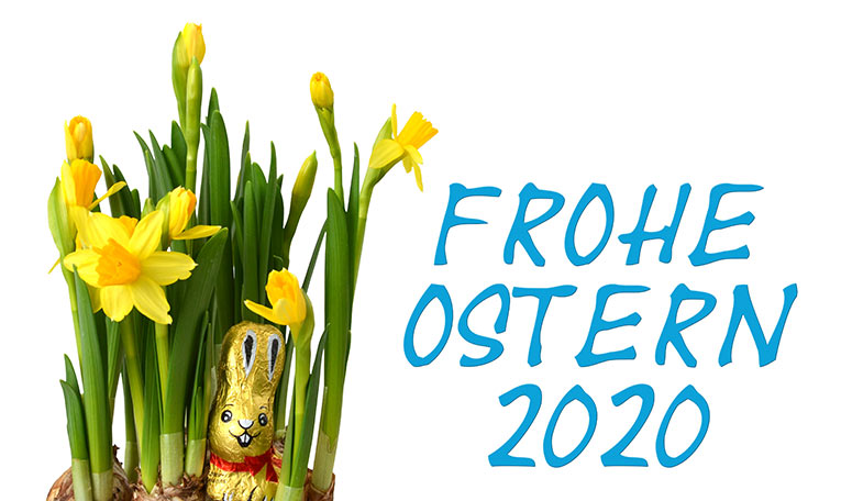 Frohe Ostern 2020 (blau)