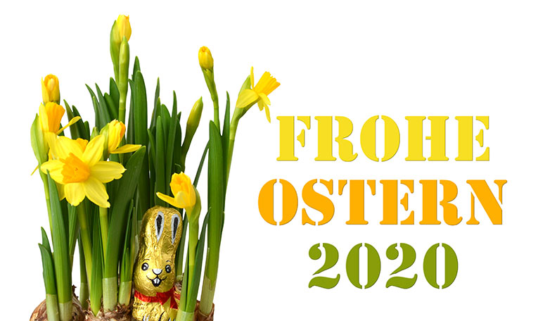 Frohe Ostern 2020 (bunt)