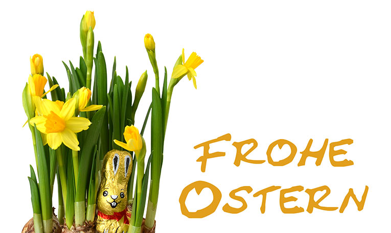 Frohe Ostern (gold)