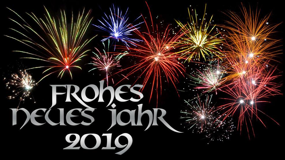 Frohes neues Jahr 2019 (silber)