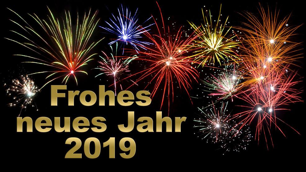 Frohes neues Jahr 2019 (gold)