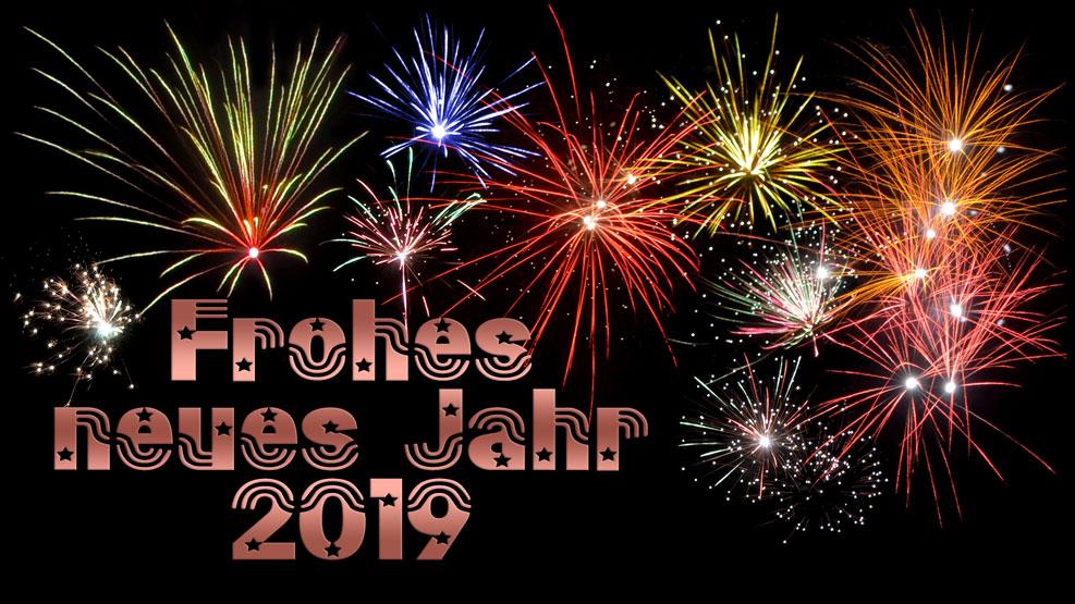 Frohes neues Jahr 2019 (kupfer)
