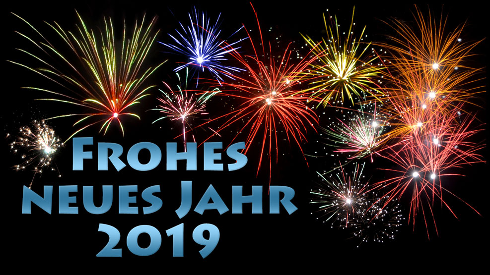 Frohes neues Jahr 2019 (stahlblau)