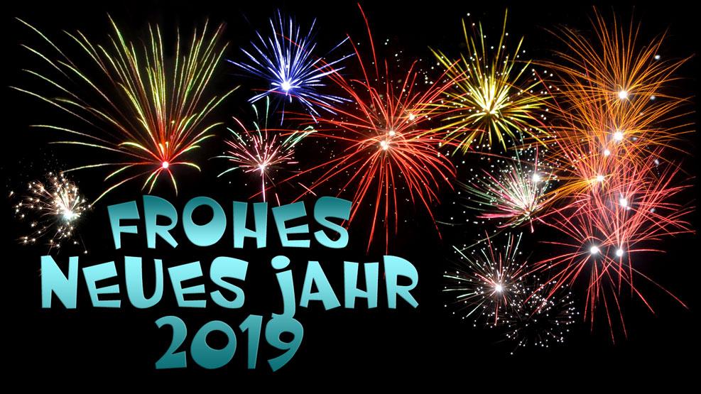 Frohes neues Jahr 2019 (türkis)