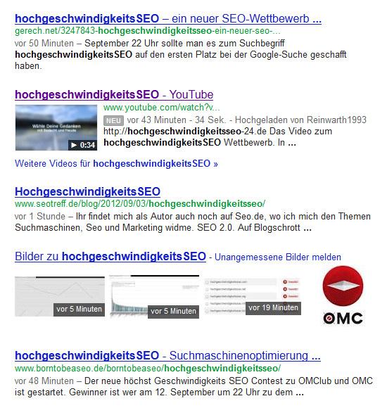hochgeschwindigkeitsSEO Bilder und Video