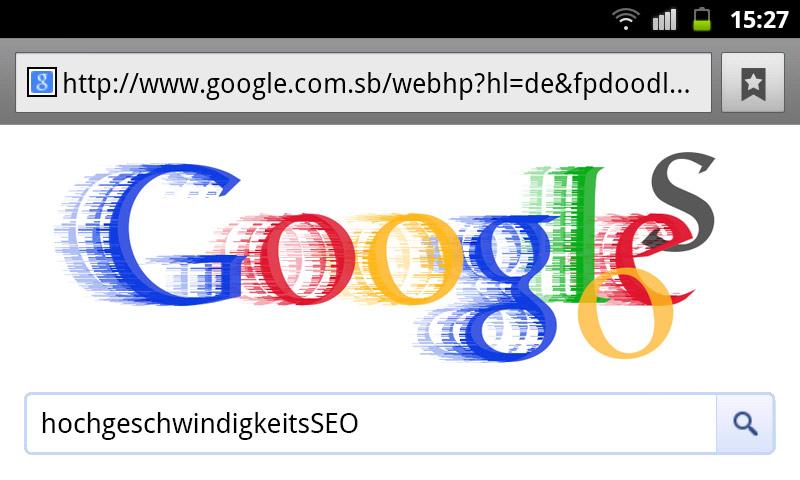 google-doodle hochgeschwindigkeitsseo