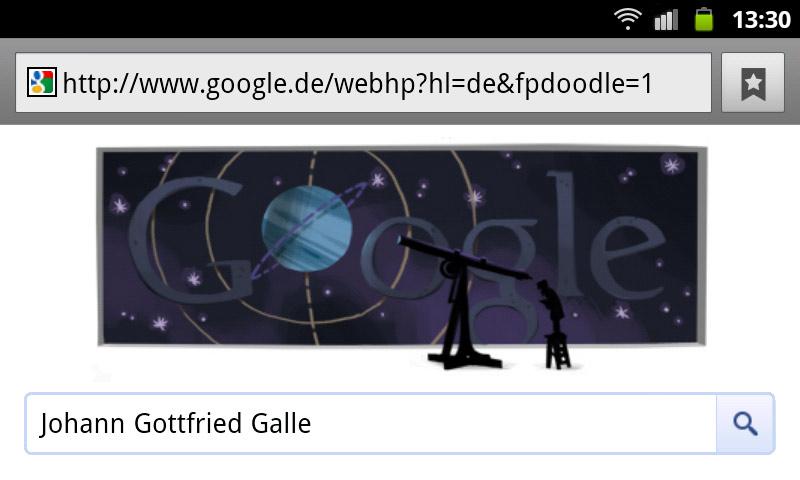 google-doodle johann gottfried galle