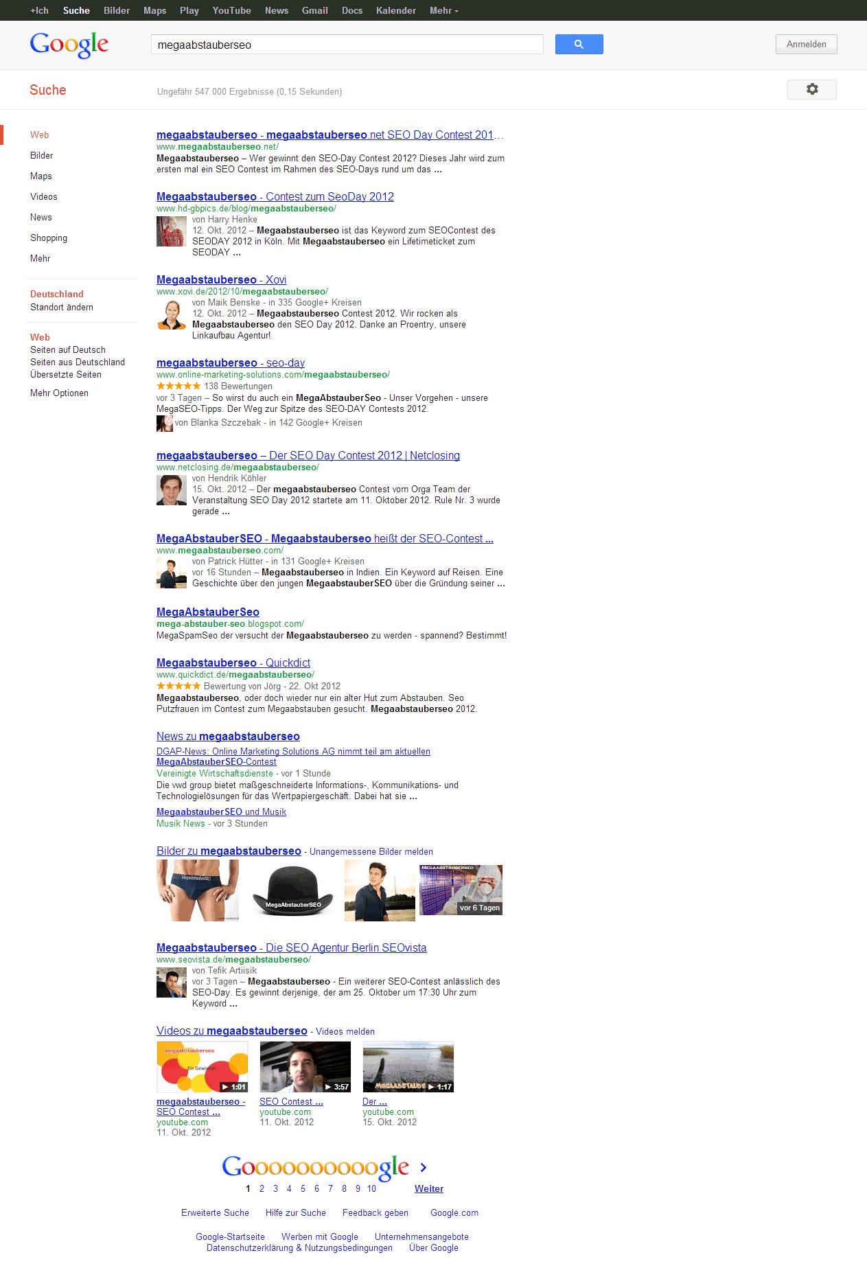 megaabstauberseo – Google-Suche Ergebnis (nicht amtlich)