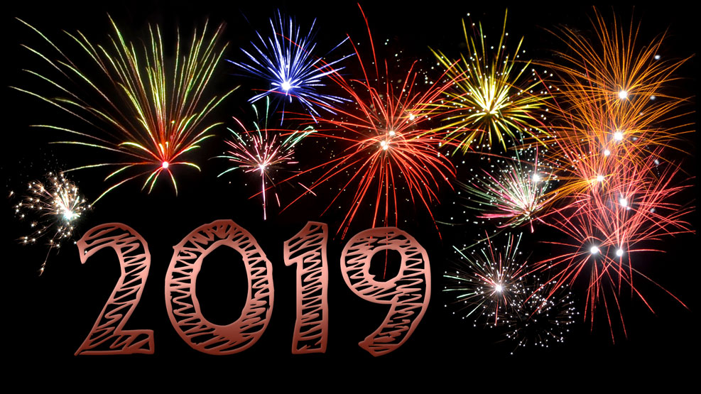 Neujahr 2019 (kupfer)