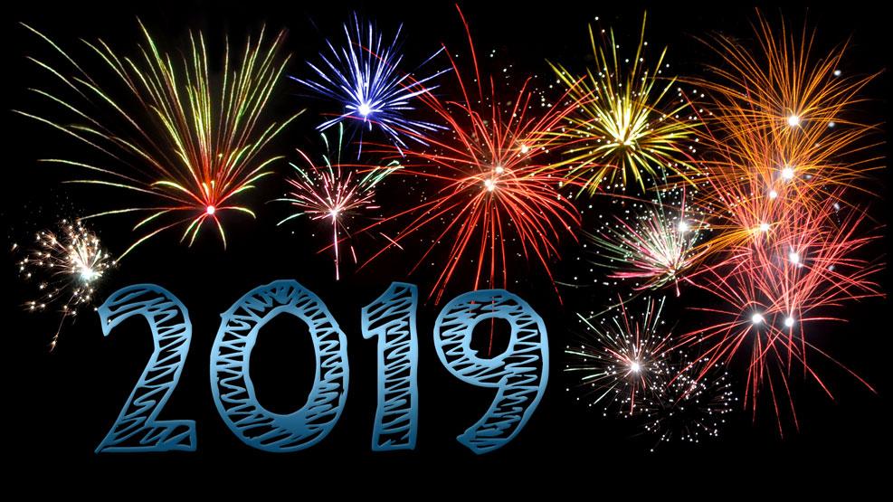 Neujahr 2019 (stahlblau)