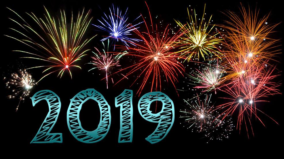 Neujahr 2019 (türkis)