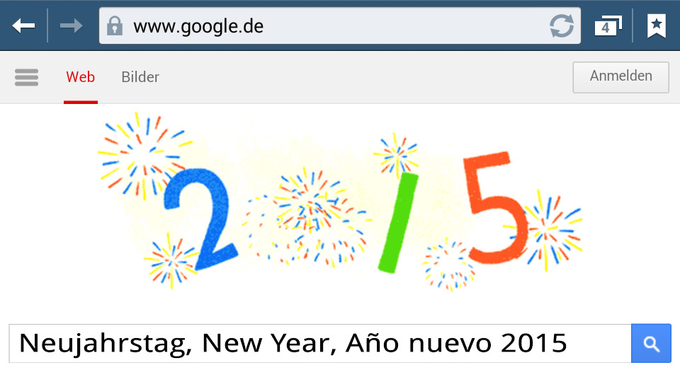 Neujahrstag 2015 (Google-Doodle)