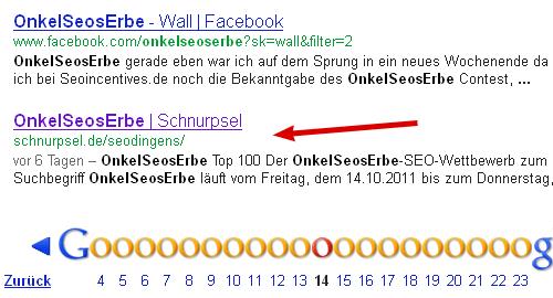OnkelSeosErbe – mit seodingens in den Google-SERPs