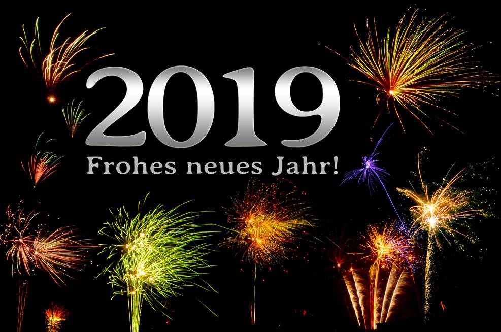 2019 – Frohes neues Jahr! (silber)