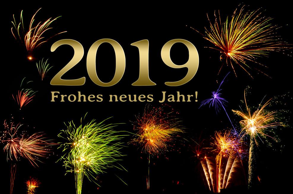 2019 – Frohes neues Jahr! (gold)