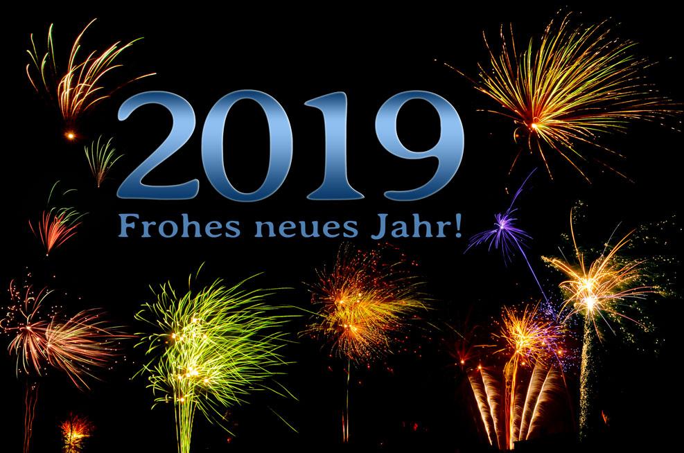 2019 – Frohes neues Jahr! (blau)