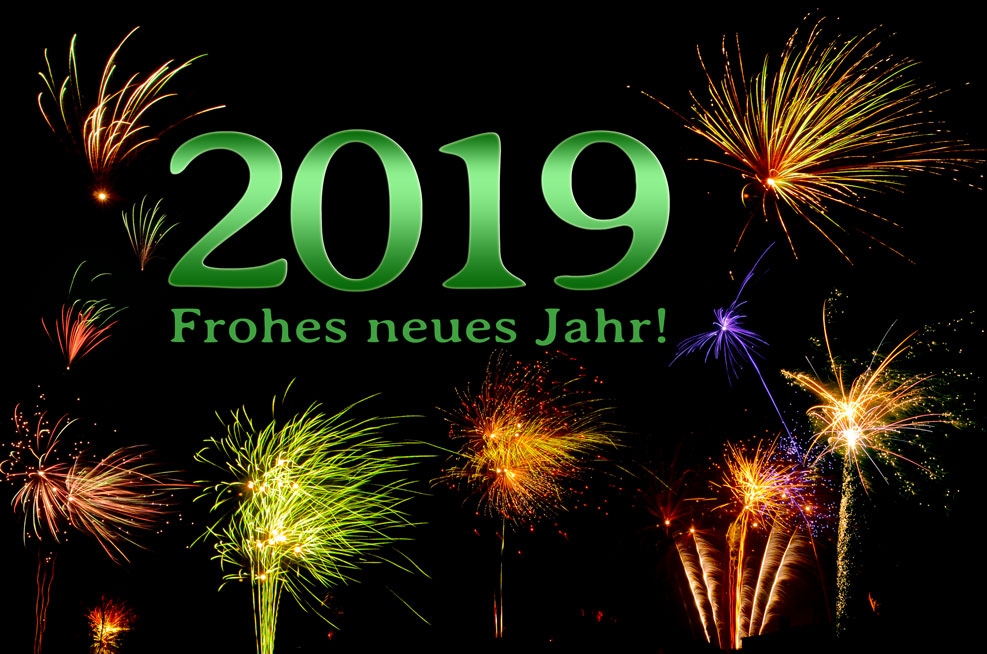2019 – Frohes neues Jahr! (grün)