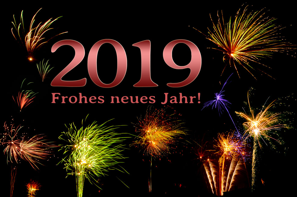 2019 – Frohes neues Jahr! (rot)