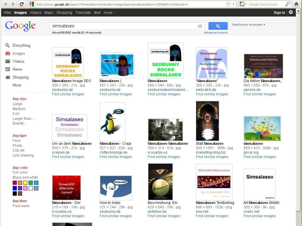 Simsalaseo google.de - englisch