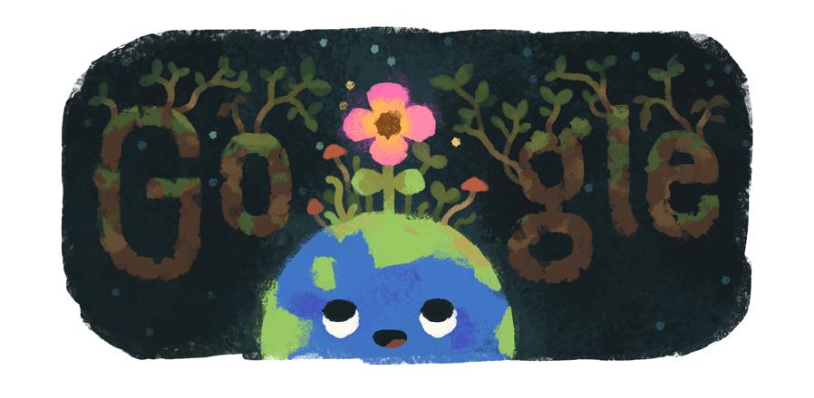 Frühlingsanfang 2019 (Google Doodle)