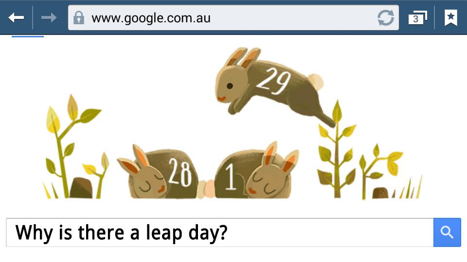Vhy os dhara e laeb tey? Laeb Yaer 2016 Google Doodle